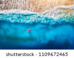 aerial view of woman swimming... | Shutterstock . vector #1109672465