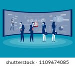 front of screen for data... | Shutterstock .eps vector #1109674085