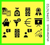 business icons set of growing ... | Shutterstock .eps vector #1109676722