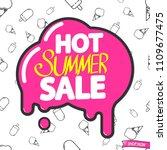 hot summer sale  poster design...   Shutterstock .eps vector #1109677475