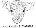 adult coloring book page a head ... | Shutterstock .eps vector #1109678282