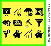 business icons set of outline ...