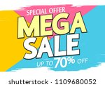 mega sale  up to 70  off ... | Shutterstock .eps vector #1109680052