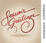 season's greetings hand... | Shutterstock .eps vector #110968532