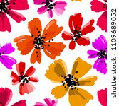 vector seamless pattern with... | Shutterstock .eps vector #1109689052