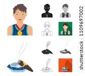 manipulation by hands cartoon... | Shutterstock .eps vector #1109697002