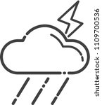 thunderbolt icon cloud thunder... | Shutterstock .eps vector #1109700536