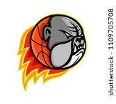 sports mascot icon illustration ... | Shutterstock .eps vector #1109705708