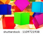 multicolored cubes  abstract... | Shutterstock . vector #1109721938