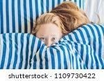 beautiful young woman lying... | Shutterstock . vector #1109730422
