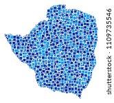 zimbabwe map mosaic of... | Shutterstock .eps vector #1109735546