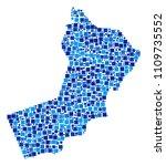 yemen map composition of random ... | Shutterstock .eps vector #1109735552