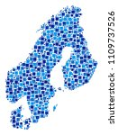 scandinavia map composition of... | Shutterstock .eps vector #1109737526