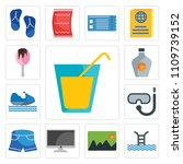 set of 13 simple editable icons ... | Shutterstock .eps vector #1109739152
