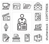 set of 13 simple editable icons ... | Shutterstock .eps vector #1109739836