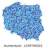 poland map collage of random... | Shutterstock .eps vector #1109740322