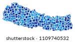 nepal map collage of randomized ... | Shutterstock .eps vector #1109740532