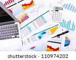 financial paper charts and... | Shutterstock . vector #110974202