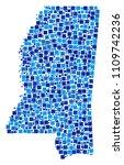 mississippi state map... | Shutterstock .eps vector #1109742236