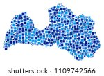 latvia map collage of... | Shutterstock .eps vector #1109742566