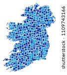 ireland island map collage of... | Shutterstock .eps vector #1109743166