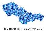 czechoslovakia map collage of... | Shutterstock .eps vector #1109744276