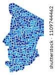 chad map mosaic of randomized... | Shutterstock .eps vector #1109744462