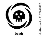 death sign icon vector isolated ... | Shutterstock .eps vector #1109749892