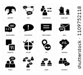 set of 16 icons such as... | Shutterstock .eps vector #1109752118