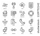 set of 16 icons such as resume  ... | Shutterstock .eps vector #1109752142