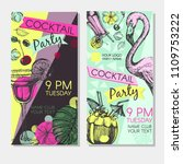 cocktail party invitation with... | Shutterstock .eps vector #1109753222