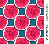 seamless pattern with halves... | Shutterstock .eps vector #1109753498