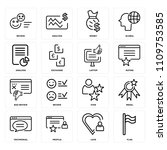 set of 16 icons such as flag ... | Shutterstock .eps vector #1109753585