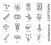 set of 16 icons such as smoke ...