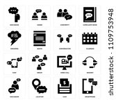set of 16 icons such as... | Shutterstock .eps vector #1109753948
