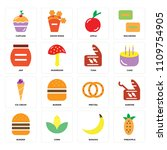 set of 16 icons such as... | Shutterstock .eps vector #1109754905