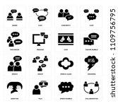 set of 16 icons such as... | Shutterstock .eps vector #1109756795