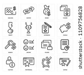 set of 16 icons such as rating  ... | Shutterstock .eps vector #1109756828