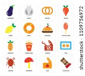 set of 16 icons such as... | Shutterstock .eps vector #1109756972