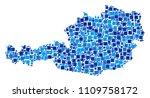 austria map composition of... | Shutterstock .eps vector #1109758172
