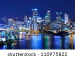 skyscrapers in downtown... | Shutterstock . vector #110975822