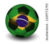 brazilian football country icon | Shutterstock .eps vector #1109771795