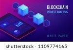 isometric blockchain project... | Shutterstock .eps vector #1109774165