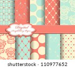set of vector abstract paper... | Shutterstock .eps vector #110977652