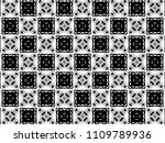 ornament with elements of black ... | Shutterstock . vector #1109789936