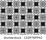 ornament with elements of black ... | Shutterstock . vector #1109789942