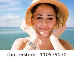 sunny portrait of a young... | Shutterstock . vector #110979572