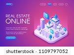 real estate online vector... | Shutterstock .eps vector #1109797052