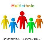 multiethnic people design ... | Shutterstock .eps vector #1109801018