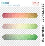 menu polygonal symbol ... | Shutterstock .eps vector #1109821892